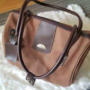 Vintage Samsonite Suede Travel Bag - Like New